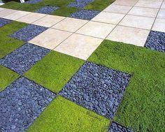 Fun hardscape/softscape pattern  Ron Herman Landscape Architect - modern - landscape - san francisco - Ron Herman Landscape Architect