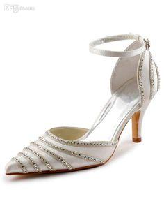 Wholesale Wedding Shoes - Buy Elegant Rhinestone Pointed Toe Satin Wedding Sandals Red Shoes #u8-Gwa, $51.2 | DHgate