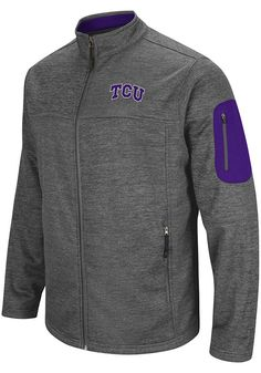 sale retailer 08900 3b996 Colosseum TCU Horned Frogs Mens Grey Anchor Heavyweight Jacket