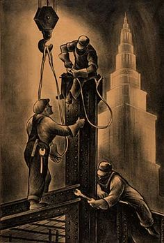 Steel Workers (1934) Artist: Russell Limbach