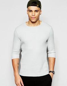 ASOS   ASOS Waffle Jersey Muscle Longline Long Sleeve T-Shirt With Drop Hem In Grey at ASOS Long A Line, Waffle, Asos, Muscle, Grey, Long Sleeve, Sleeves, Mens Tops, T Shirt