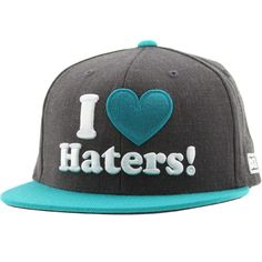 DGK Haters Snapback Cap (charcoal heather / teal) HH398CTL - $28.00