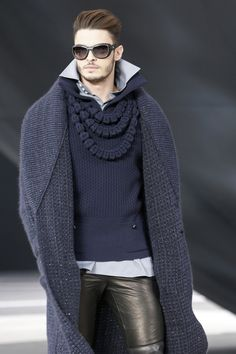 Baptiste Giabiconi on the runway for Chanel, Fall 2013