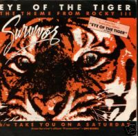"""""""Eye of the Tiger"""" is a song by American rock band Survivor. It was released in the spring of 1982 as a single from their third album Eye of the Tiger. It was written at the request of actor Sylvester Stallone, who was unable to get permission for Queen's """"Another One Bites the Dust"""". The song was to be the theme song for the movie Rocky III, in which Stallone was playing the main role. The movie version of the song is different from the album version because it features tiger growls."""