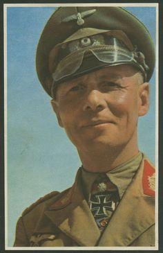 Marechal de Campo Erwin Johannes Eugen von Rommel.  # Muito respeitado pelos seus adversários nas lutas no norte da África!