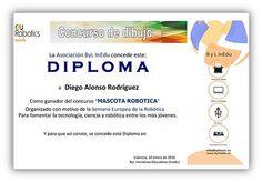 Diploma Concurso Mascota Robótica