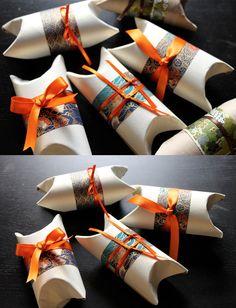 Cajitas de regalo con rollos de papel higiénico