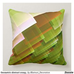 Rest your head on one of Zazzle's Square decorative & custom throw pillows. Add comfort and transform any couch, bed or chair into the perfect space! Green Pattern, Accent Pillows, Decorative Throw Pillows, Orange, Abstract, Home Decor, Decorative Pillows, Homemade Home Decor, Decoration Home