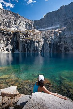 Precipice Lake lies deep in the interior of Sequoia National Park, California.