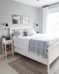 All White Bedroom, Small Room Bedroom, Bedroom Decor, Bedroom Ideas, Spare Room, Master Bedrooms, Small Rooms, Modern Bedroom, Bedroom Furniture