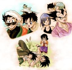 Uploaded by Loo. Find images and videos about dragon ball, goku y milk and vegeta y bulma on We Heart It - the app to get lost in what you love. Dragon Ball Z, Manga Anime, Anime Art, Manga Dragon, Vegeta And Bulma, Avatar, Fan Art, Romans, Milk