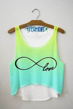 Forever Love Crop top from Fresh-Tops. Saved to Tank Tops. Cute Fashion, Teen Fashion, Outfits For Teens, Cool Outfits, Fresh Tops, Diy Vetement, Cute Crop Tops, Cropped Tops, Crop Top Outfits