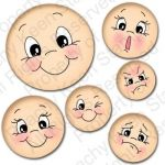 PK-490 Everyday Character Face Assortment from Peachy Keen Stamps $24.99