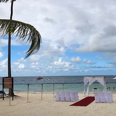 Beach wedding at Dreams Palm Beach