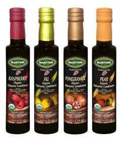 Mantova Organic Flavored Balsamic Condiments, Pear, Raspberry, Fig and Pomegranate, 5 Pound - http://goodvibeorganics.com/mantova-organic-flavored-balsamic-condiments-pear-raspberry-fig-and-pomegranate-5-pound/