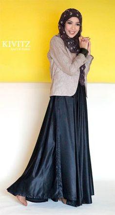 silky flowy skirt paired with a structured blazer