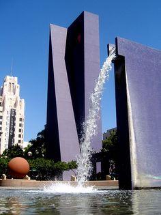 Legorreta , purple fountain