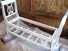 How to make a DIY french-style garden bench out of old chairs
