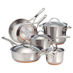Anolon Nouvelle Copper 10-piece Cookware Set
