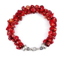 Hand-Crafted Red Coral Bracelet