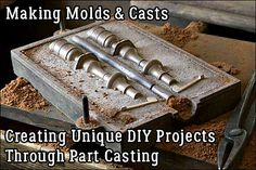 Making a cast of an object involves pouring a material into a mold and letting it harden. Metal casting requires heating… – metal of life Metal Projects, Metal Crafts, Diy Projects, Metal Casting Molds, Diy Forge, Metal Bending, Diy Workshop, Metal Tools, Metal Shop