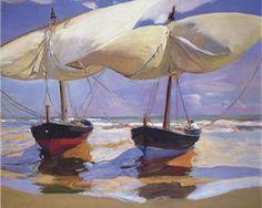 Beached Boats - Joaquín Sorolla