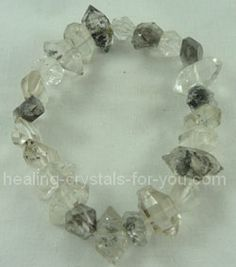 Herkimer Diamonds bracelet. These crystals are beautiful and powerful high vibration crystals, that boost clairvoyant and clairaudient abilities, and they act as powerful amplifiers when you are using them with another small stone.