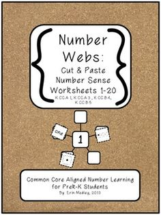 FREE for limited time, number web cut & paste worksheets for common core aligned Cut And Paste Worksheets, Letter Worksheets, Literacy Activities, Teaching Resources, Number Web, Spelling Words, Beginning Of The School Year, Learning Letters, Word Pictures