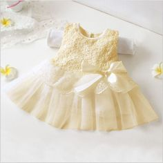 Toddler-Kid-Baby-Princess-Flower-Girl-Pageant-Wedding-Party-Tulle-Tutu-Bow-Dress