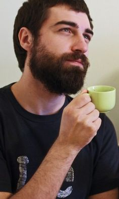 flickr-beard-power:  Beard and Tea! That's a new one!There are thousands of excuses for beards!(Not able to re-blog from original source:http://hardcorebeardporn.tumblr.com/) Follow: http://flickr-beard-power.tumblr.com/