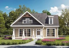 House Plan 60008 | Country Craftsman Traditional Plan with 1771 Sq. Ft., 3 Bedrooms, 2 Bathrooms, 2 Car Garage