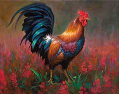 Mark Keathley (b.1963) —  Rooster (700x560)