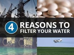 4 major reasons why using a water filter is necessary to minimize your exposure to the many health dangers of water contamination. #healthtips
