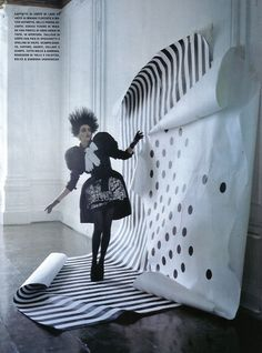 A PLAY OF DOTS Vogue Italia September 2009 Model: Hannelore Knuts Photographer: Tim Walker