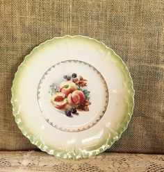 Vintage China Plate for WeddingsTea by SweetPeaPastiche on Etsy