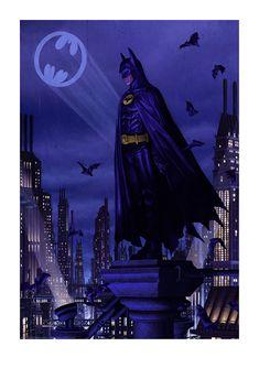 Batman 89 by Rory Kurtz Print Poster Bottleneck NYCC Preorder Batman Painting, Batman Artwork, Batman Wallpaper, Batman E Superman, Batman Bike, Batman Suit, Batman Arkham, Batman Robin, Michael Keaton Batman