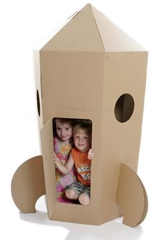 To the moon Alice! Fun cardboard creations you can do with the kids. #Kids Summer Activities