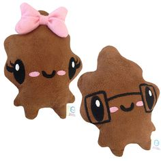Cutie Poo & Smarty Poo Plushes by Bored Inc.