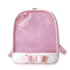 f06fca1a42d  38.90 Cute Clear Transparent Bow Backpack Go shopping now! Visit us    https