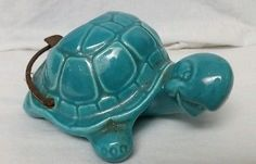 "Vintage 1956 ""Treasure Craft: Cartoon Turtle"" Ceramic Ashtray Tobacciana Rare"