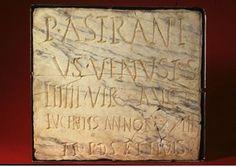 #LucentumYac. Inscripción de Publio Astranio donde se menciona el nombre de la ciudad.