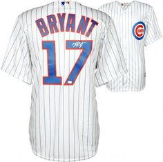 Kris Bryant Chicago Cubs Signed White Replica Jersey - Fanatics for sale online Espn Baseball, Baseball Helmet, Cubs Baseball, Baseball Gloves, Chicago Cubs Memorabilia, Dominique Wilkins, Mlb World Series, Reds Game, Cubs Fan