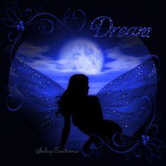 Dream blue night animated fairy graphic good night good evening good night greeting good night quote