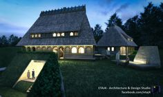 Vernacular architecture project for a large single-family house in the romanian country-side // Visualization by ETAJ4