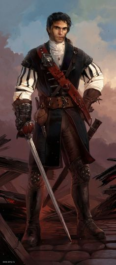 swashbuckler/duelist/rogue male; The hero no great adventure is without.