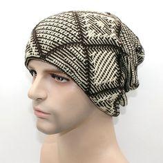 New brand Winter Beanies men Knitted wool hat Warm Soft Beanie plus velvet Cap…