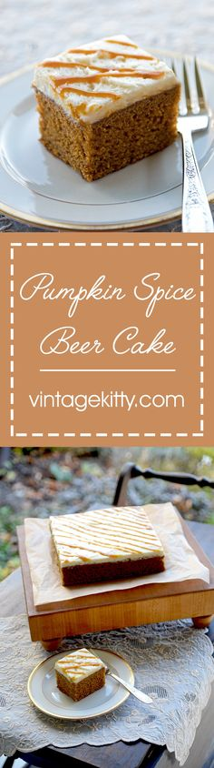 This Pumpkin Spice Beer Cake takes the fuss out of making a cake from scratch. In about an hour you can put together this delicious dessert, which features maple, orange, and PUMPKIN BEER!!!!