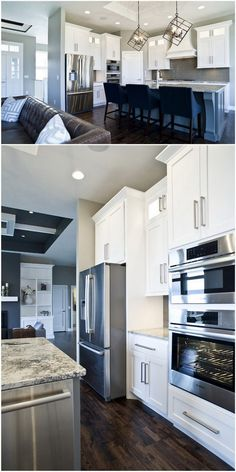 Classic Kitchen with Shaker Cabinets, a Custom Wooden Hood and Detailed Island