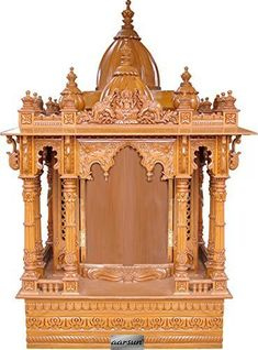 Get beautiful pooja room mandir designs for your home. Create gorgeous pooja room interior using our pooja room mandir designs made of wood, marble etc. Wooden Temple For Home, Temple Design For Home, Home Temple, Indian Inspired Decor, Indian Home Decor, Mandir Design, Pooja Mandir, Pooja Room Door Design, Room Partition Designs