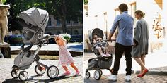A joy to push, no matter your age! Stokke® Xplory has a height-adjustable handlebar
